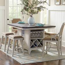 Kitchen Island Table With Stools Kitchen Island With 4 Stools Wayfair