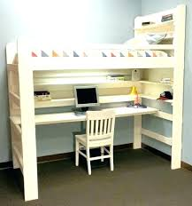 lit surélevé avec bureau la redoute lit superpose chambre lit mezzanine avec bureau la