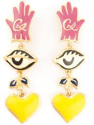 clip on earrings australia christian lacroix drop clip on earrings in metallic lyst
