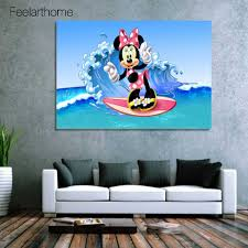 popular surf wave pictures buy cheap surf wave pictures lots from 1 piece canvas art canvas painting minni surfing sea waves hd printed wall art home decor