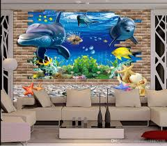 discount 3d dolphins wallpaper 2017 3d dolphins wallpaper on