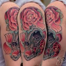 powerline tattoo tattoos flower new cat skull with roses