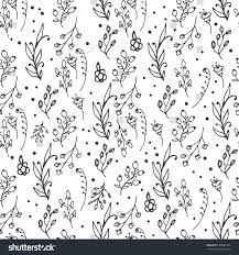 floral seamless pattern herbs wild flowers stock vector 520994104