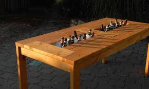 Cooler Patio Table Plans For A Patio Table With Built In Wine Coolers Woodwork