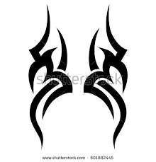 tribal tattoo art designs sketched simple stock vector 601882445