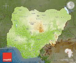 nigeria physical map physical map of nigeria darken
