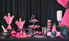halloween party photo a fabulous pink and black halloween party celebrate u0026 decorate