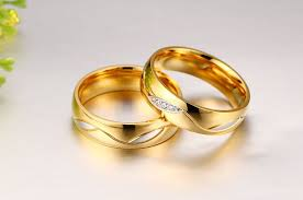 couples wedding rings stainless steel couples rings for men women gold wedding bands