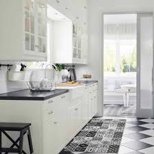 cuisine carreaux ciment tapis carreaux de ciments noir 100x60cm toodoo tapis cuisine
