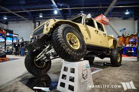 jeep truck conversion 2016 sema bruiser conversion tan jeep jk double cab pick up truck