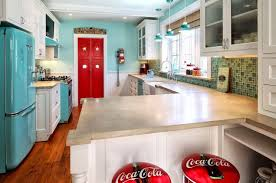 kitchen retro kitchen laminate countertops red door mosaic wall