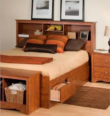 bed frames queen platform bed with storage and headboard twin