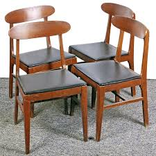 Mid Century Modern Dining Chairs Vintage Set Of Vintage Mid Century Modern Dining Chairs By The Liberty