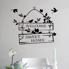 aliexpress com buy removable welcome sweet home wall stickers