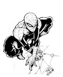 spiderman cartoon drawing upside down