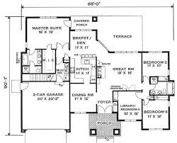 single story open floor house plans floor plan single storey house plans bungalow modern one story with