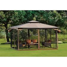 screened canopy gazebo mosquito free net outdoor dine party