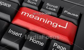word meaning on keyboard stock image rs1120542488