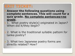 asian poetry miss wanson pre ap english 10 poetry forms haiku