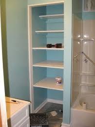 bathroom closet door ideas hmm remove closet door in bathroom and use pretty containers