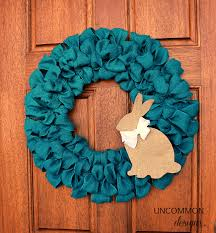 how to make easter wreaths burlap ribbon easter wreath uncommon designs