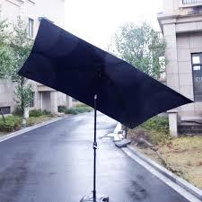 Rectangular Patio Umbrella With Solar Lights by Rectangular Outdoor Table Umbrella Awning Led Solar Powered