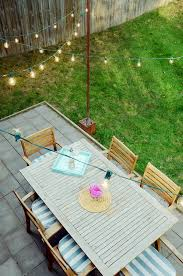 Diy Bistro Table Diy Outdoor Bistro Light Stands For Your Patio Curbly