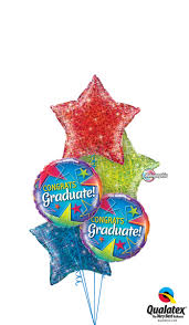 helium filled balloons delivered sparkling congrats graduate balloon bouquet helium filled