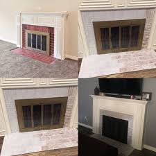 Whitewashing A Fireplace by White Wash Fireplace Gone Wrong We Mixed 3 Part Water With One