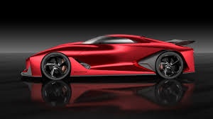 red nissan car nissan concept 2020 vision gran turismo looks better in red