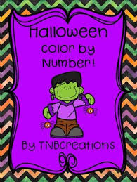 halloween color number tnbcreations teachers pay teachers