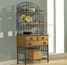 Bakers Rack Wrought Iron Wrought Iron Bakers Rack With Drawers Versatile Bakers Rack