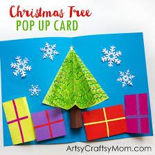 easy 3d tree pop up card artsy craftsy