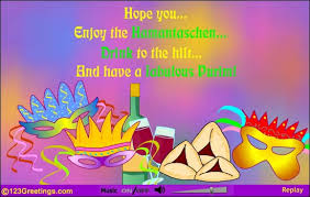 purim cards you enjoy the hamantaschen drink to the hilt and a