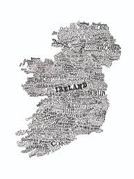 Black And White Map Wales Type Map Black Great British Type Map