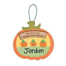 thumbprint pumpkin patch craft kit harvest party pumpkin