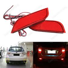 sti subaru red red lens rear bumper reflector led tail stop light subaru impreza