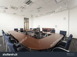 modern office conference table huge round conference table modern office stock photo 138201674