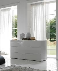 Modern Dressers Furniture by White Lacquer Dresser Modrest Candid Modern White Dresser By Vig