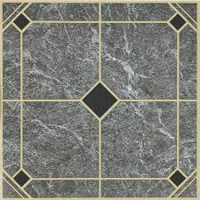 home impressions 12 x12 blue and gold vinyl floor tile