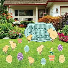 Easter Decorations Outside by Easter Yard Stakes Easter Wikii
