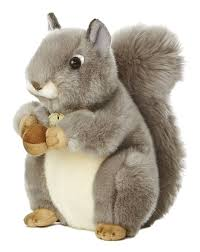 amazon com aurora world miyoni grey squirrel 8