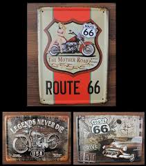vintage home decor wholesale 5pcs lot wholesale 15 20cm garage car metal tin signs vintage car