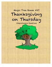 magic tree house 27 thanksgiving on thursday comprehension