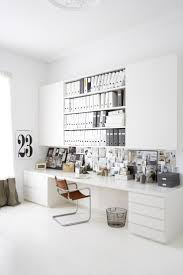 chic home office ideas with white desk white scandinavian home