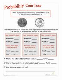 coin toss probability coin toss worksheets and maths