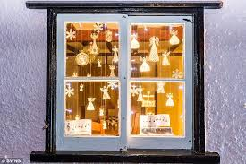 Christmas Decorations For Window Displays by Villagers Put On A Christmas Display With A Difference By