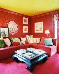 Red Sofa In Living Room by Yellow Living Room Photos 233 Of 241