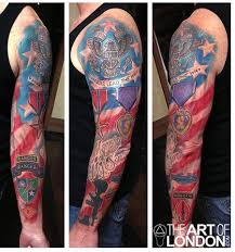 half sleeve army ranger tattoo real photo pictures images and