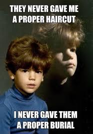 Murderer Meme - epic pix â like 9gag â just funny â bad haircut murderer